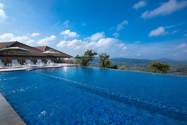 Infinity Pool at Coorg Cliffs Resort and Spa - safe and sanitized getaway near Bangalore