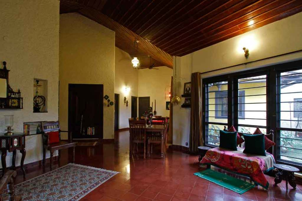 interiors of the heritage house in Gowrinivas - a safe and sanitized weekend getaway for Independence Day near Bangalore